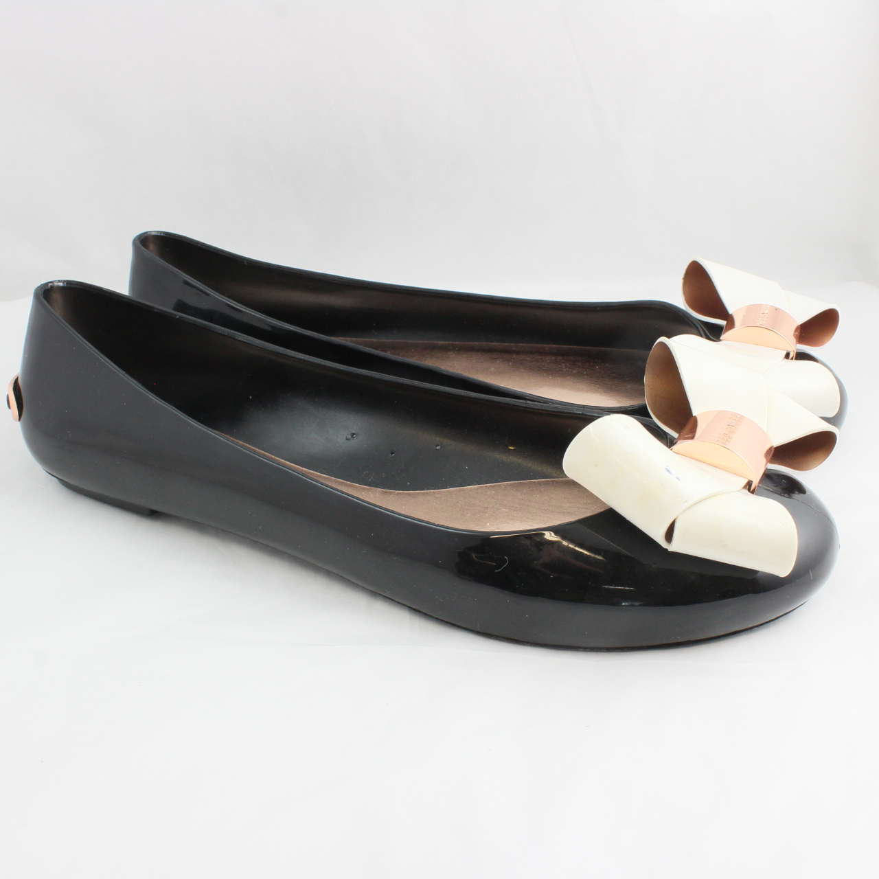 dbd096d95 Sentinel Thumbnail 3. Sentinel Womens Ted Baker Black Synthetic Slip On  Ballerinas Size UK ...