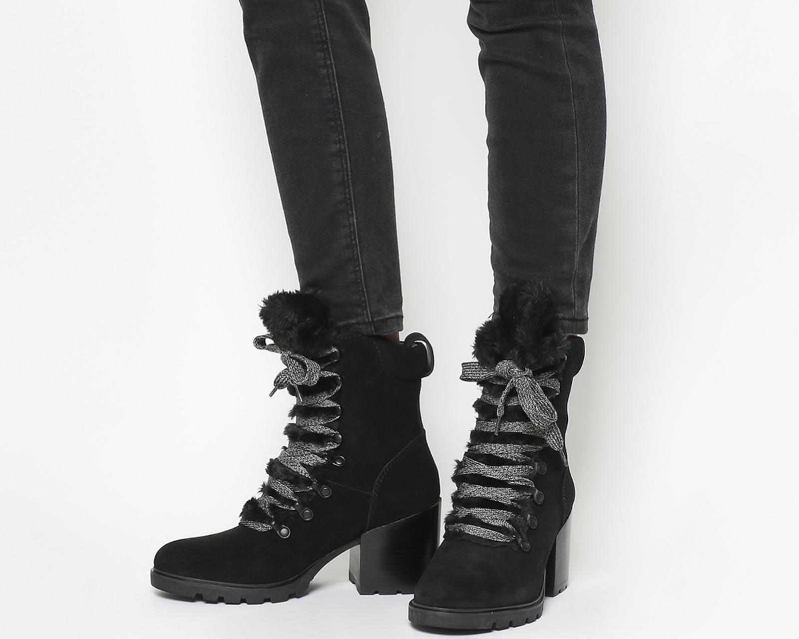 da8f45aa6 Womens Kendall - Kylie Spencer Hiker Black Suede Boots