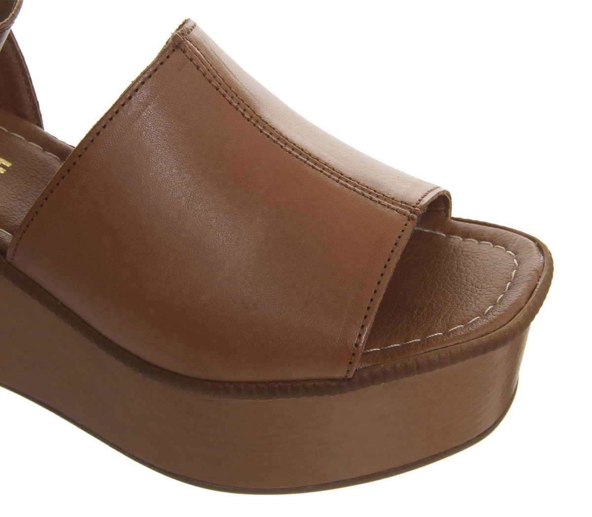 Womens-Office-Money-Honey-Wedges-Tan-Leather-Heels thumbnail 10