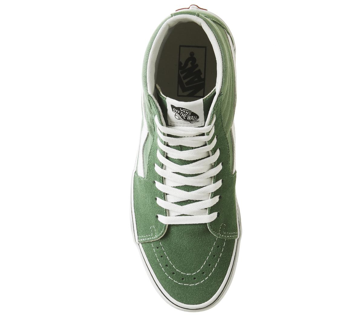 bdd5ed6892c Sentinel Womens Vans Sk8 Hi Trainers Deep Grass Green True White Trainers  Shoes