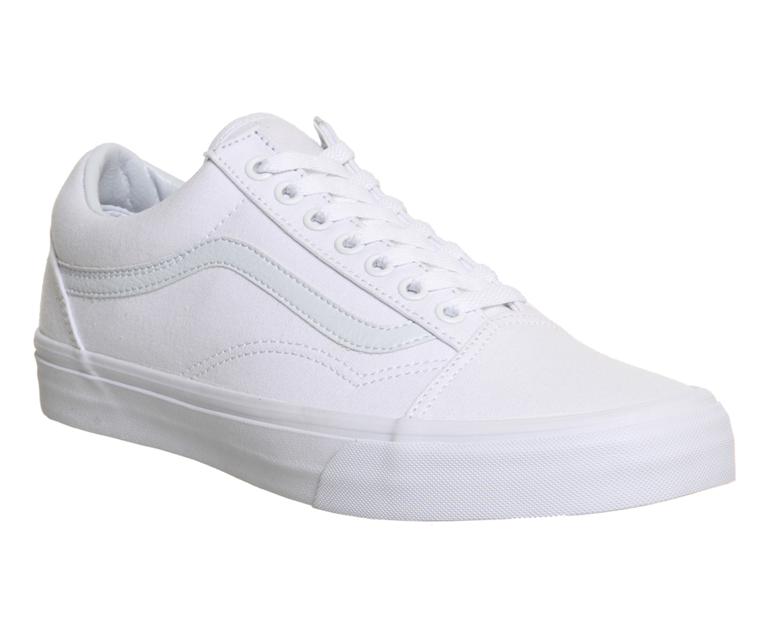 839353e9c39 Sentinel Mens Vans Old Skool Canvas Trainers WHITE MONO Trainers Shoes