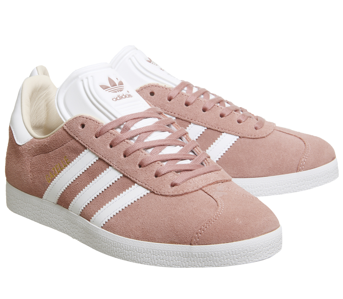 online retailer b3333 4597d Sentinel Thumbnail 6. Sentinel Womens Adidas Gazelle Trainers ASH PEARL  WHITE Trainers Shoes. Sentinel Thumbnail 7