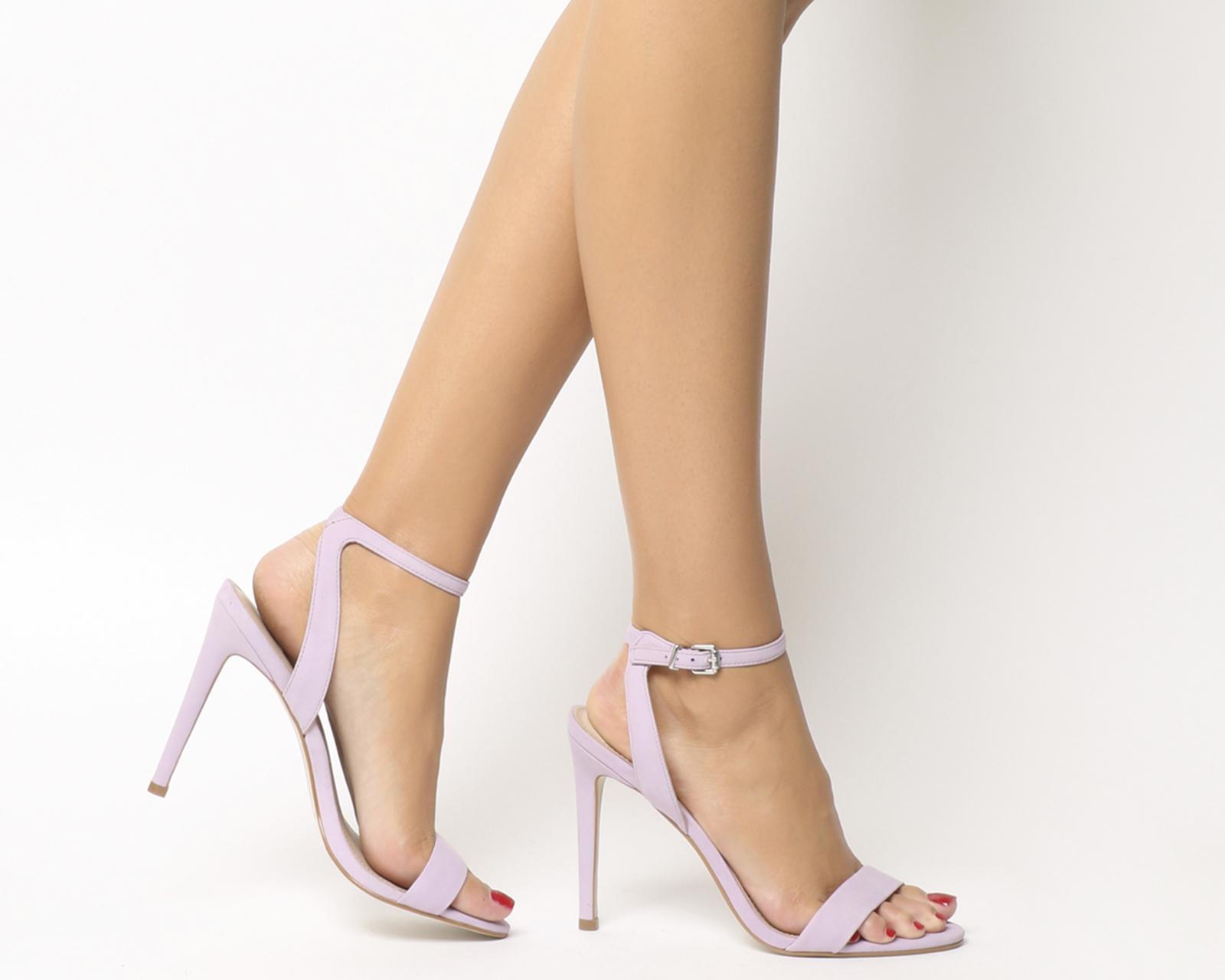 52fcc78fca8a Sentinel womens office alana single sole sandals lilac nubuck heels jpg  1600x1280 Lilac strappy heels