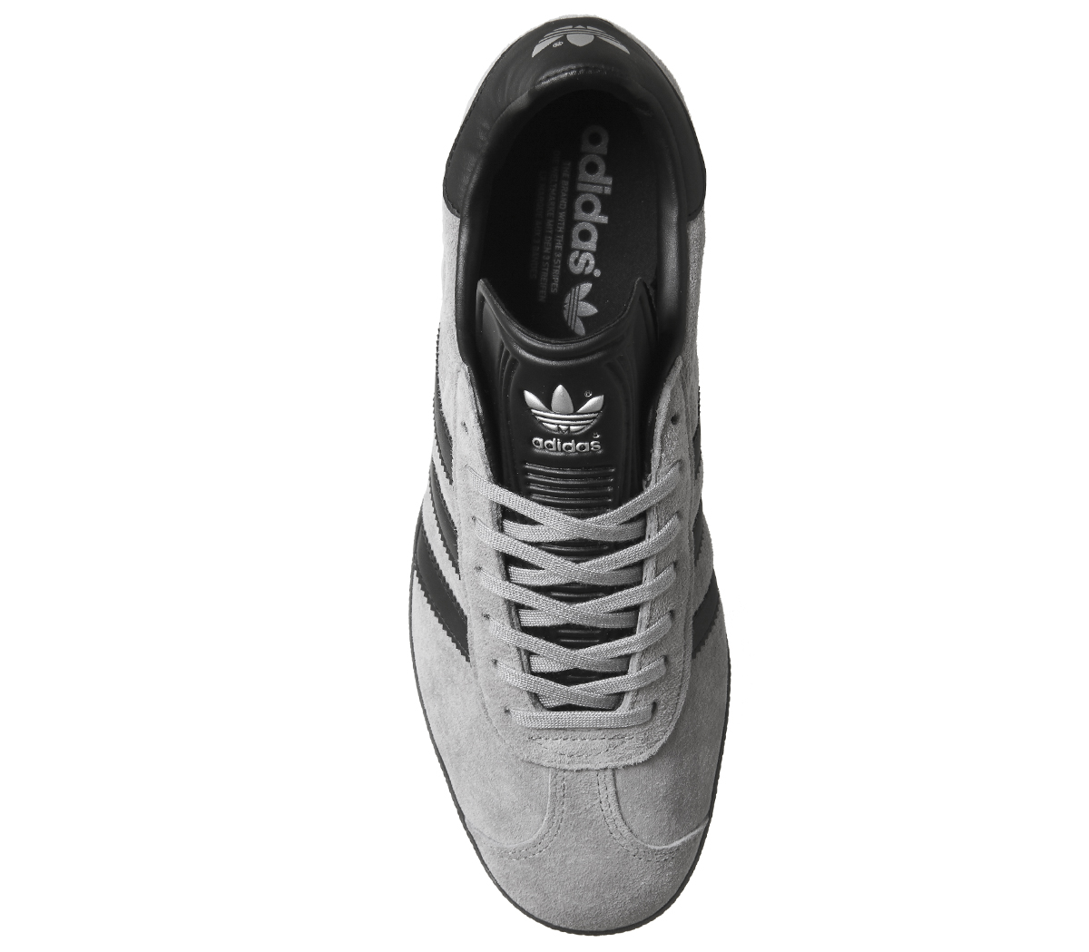 da4b2711007a3 Sentinel Mens Adidas Gazelle Trainers Grey Black Exclusive Trainers Shoes