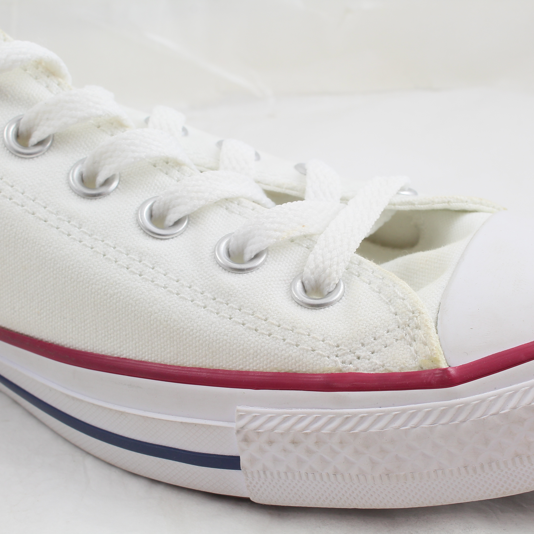 5aa17765f2f6 Sentinel Womens Converse White Canvas Lace Up Trainers Size UK 6  Ex-Display
