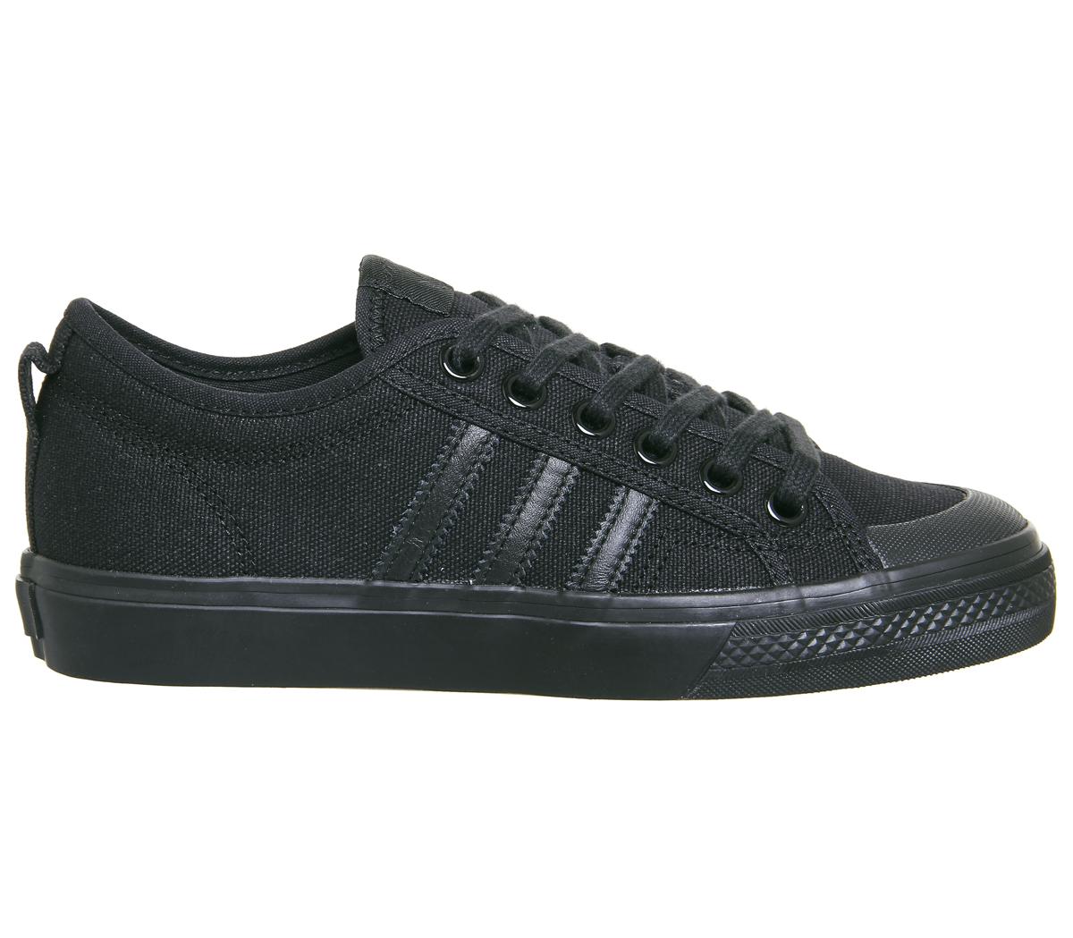 Mens Mens Mens Adidas Nizza Trainers noir MONO Trainers chaussures 068bc3