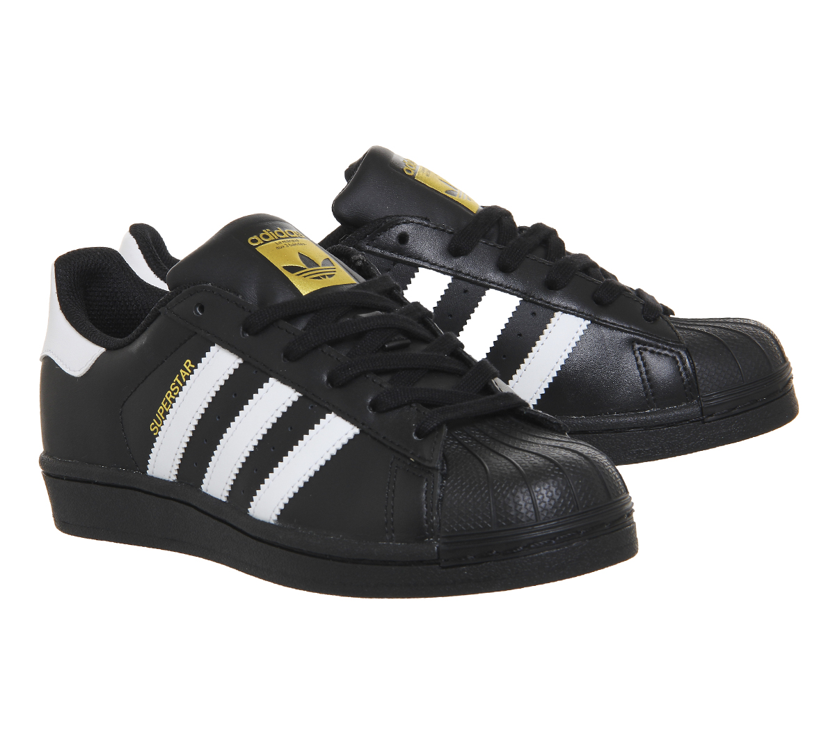 27647d1b5f8 Womens-Adidas-Superstar-Black-White-Foundation-Trainers-Shoes thumbnail