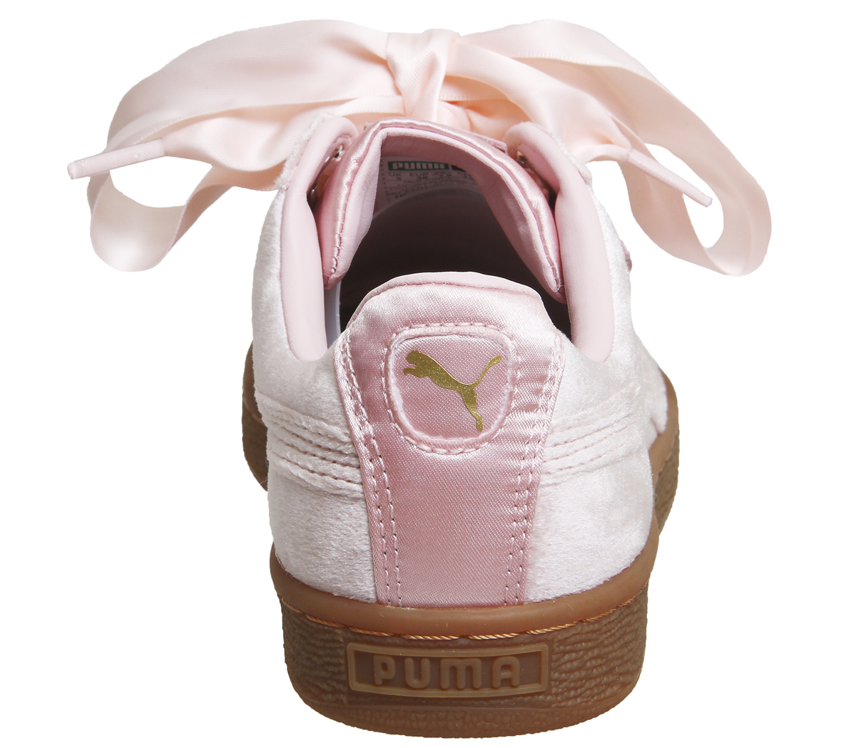 1b2a8ffd02e225 Sentinel Womens Puma Basket Heart Trainers Silver Pink Gum Trainers Shoes