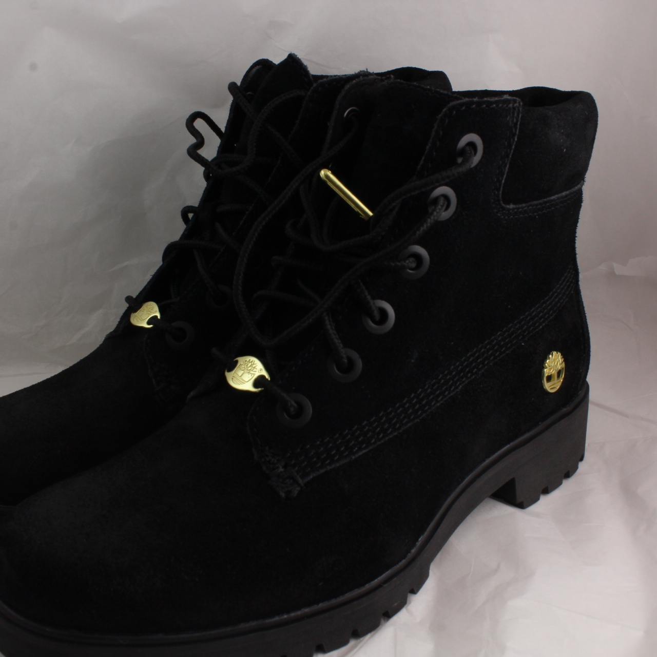 8d1c3939ba4 Womens Timberland Black Leather Lace Up Ankle Boots Size UK 5 *Ex ...
