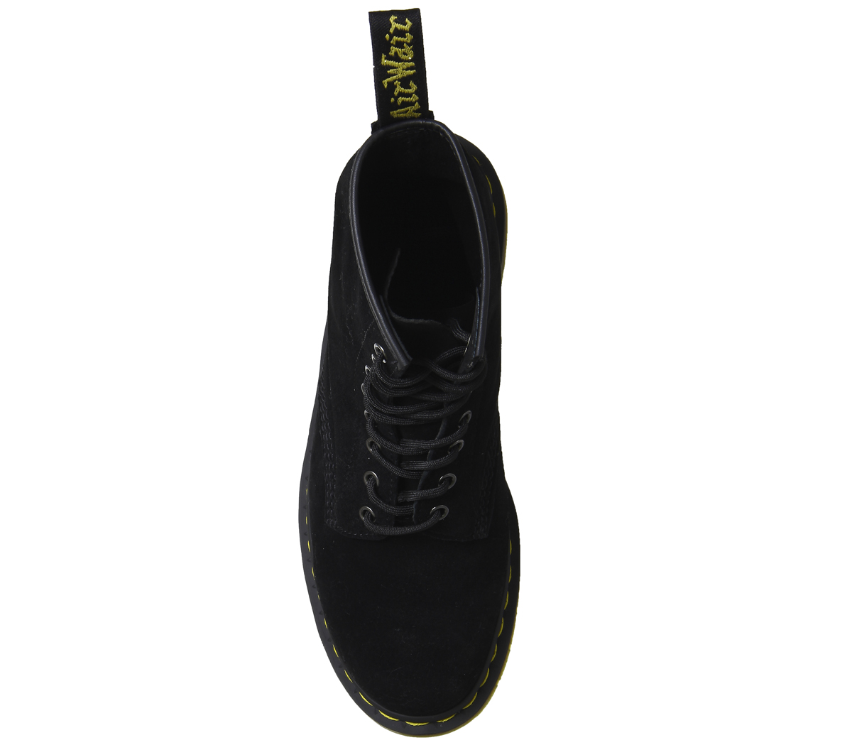 b7408087eb4 Mens Dr. Martens Dm 8 Eye Lace Boots Black Soft Buck Boots