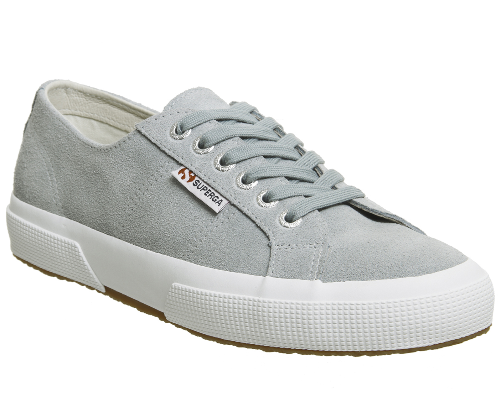 424ea17041b Sentinel Womens Superga 2750 Trainers Light Grey Suede Trainers Shoes