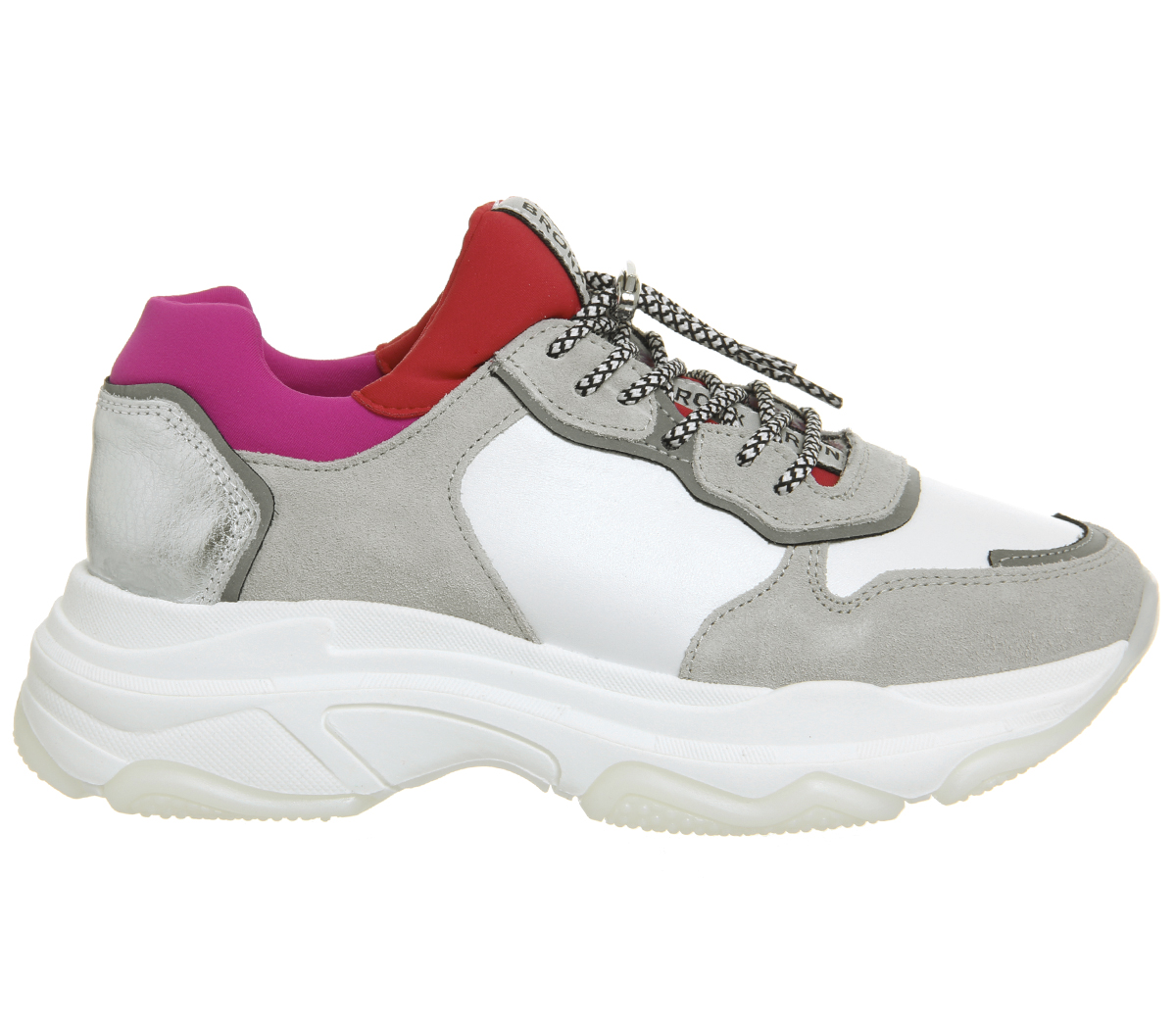 Damenschuhe Bronx Baisley ROT Trainers Weiß ROT Baisley Flats a1b157