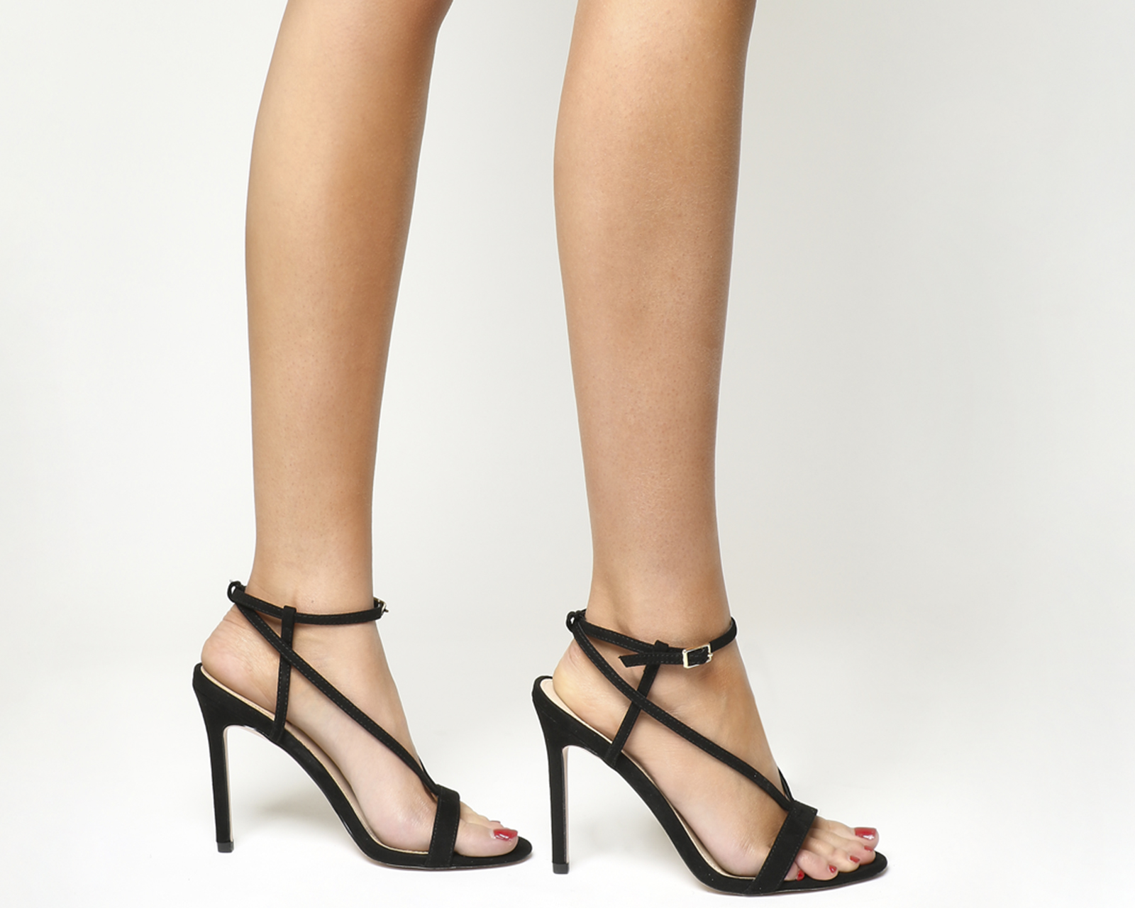 Mujer Office MARIAH punta cuadrada Sandalias De Tiras Negro Tacones