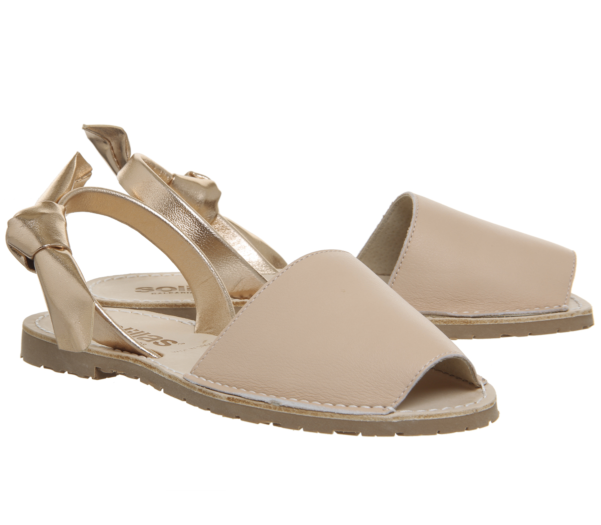 4112ade4656d Womens Solillas Solillas Bow Sandals Grey Rose Gold Sandals