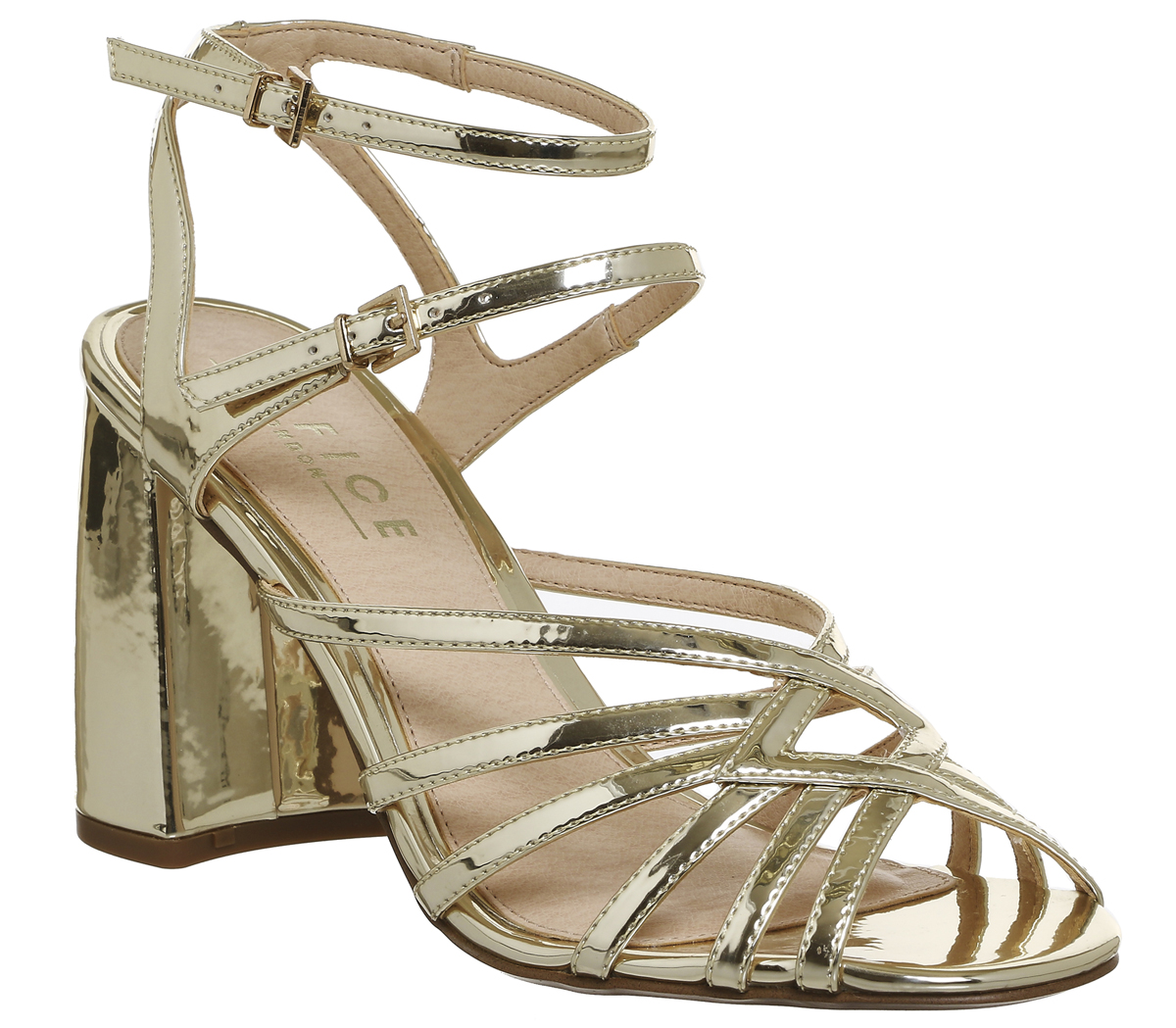 afa92627b390 Sentinel Womens Office Hey Now Strappy Sandals Gold Heels. Sentinel  Thumbnail 3