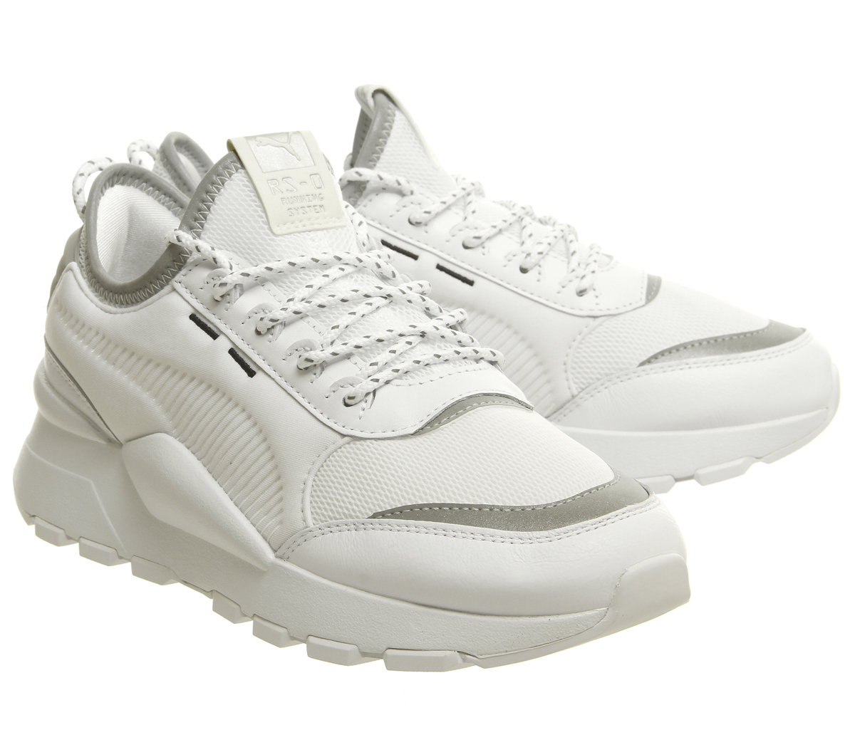 075591f1d5b Womens Puma Rs-0 Optic Trainers White White Silver Trainers Shoes