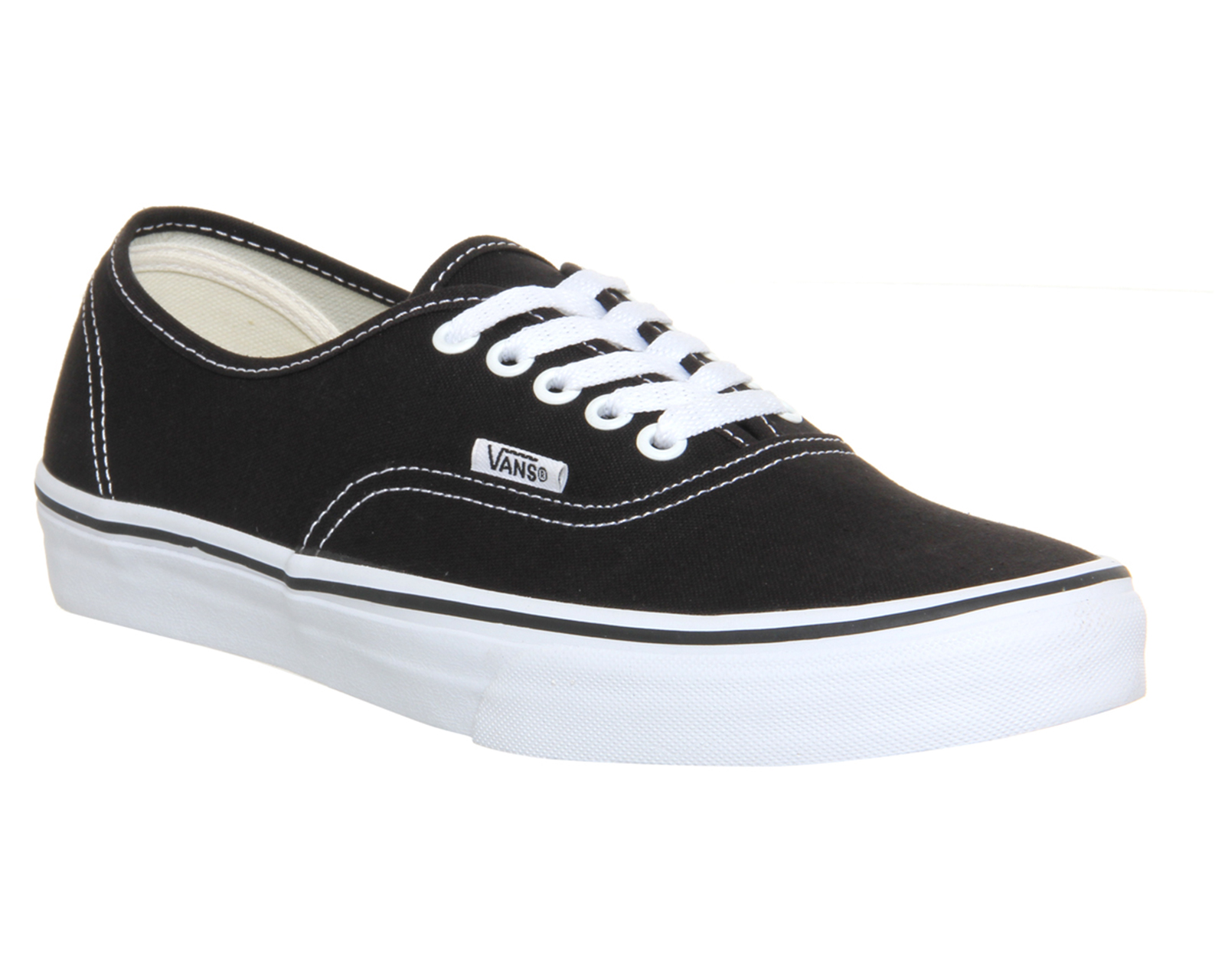 Sentinel Mens Vans Authentic Black White Trainers Shoes bb6d48ae4
