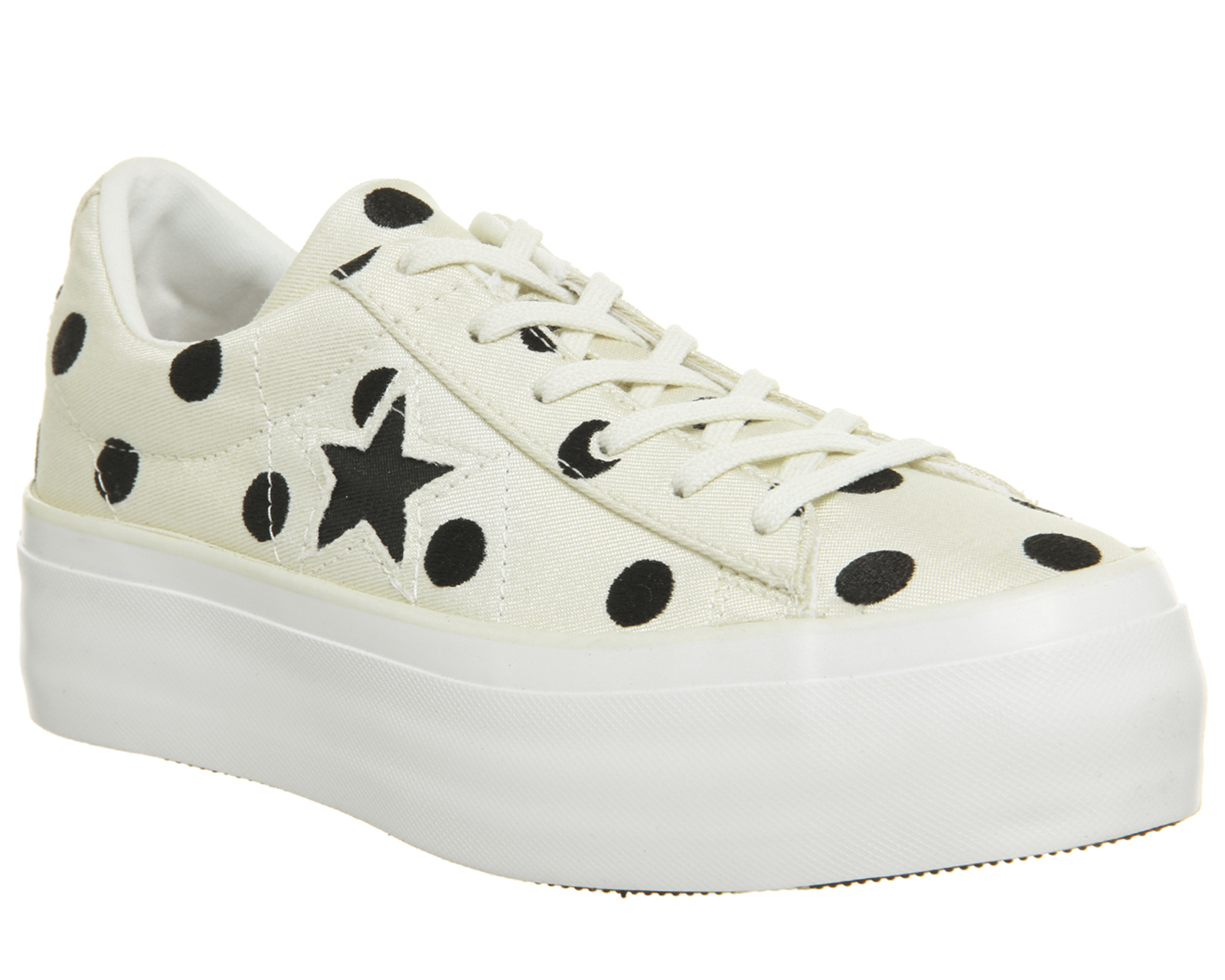 76de3133ade2 Sentinel Thumbnail 1. Sentinel Womens Converse One Star Platforms Egret  Black White ...