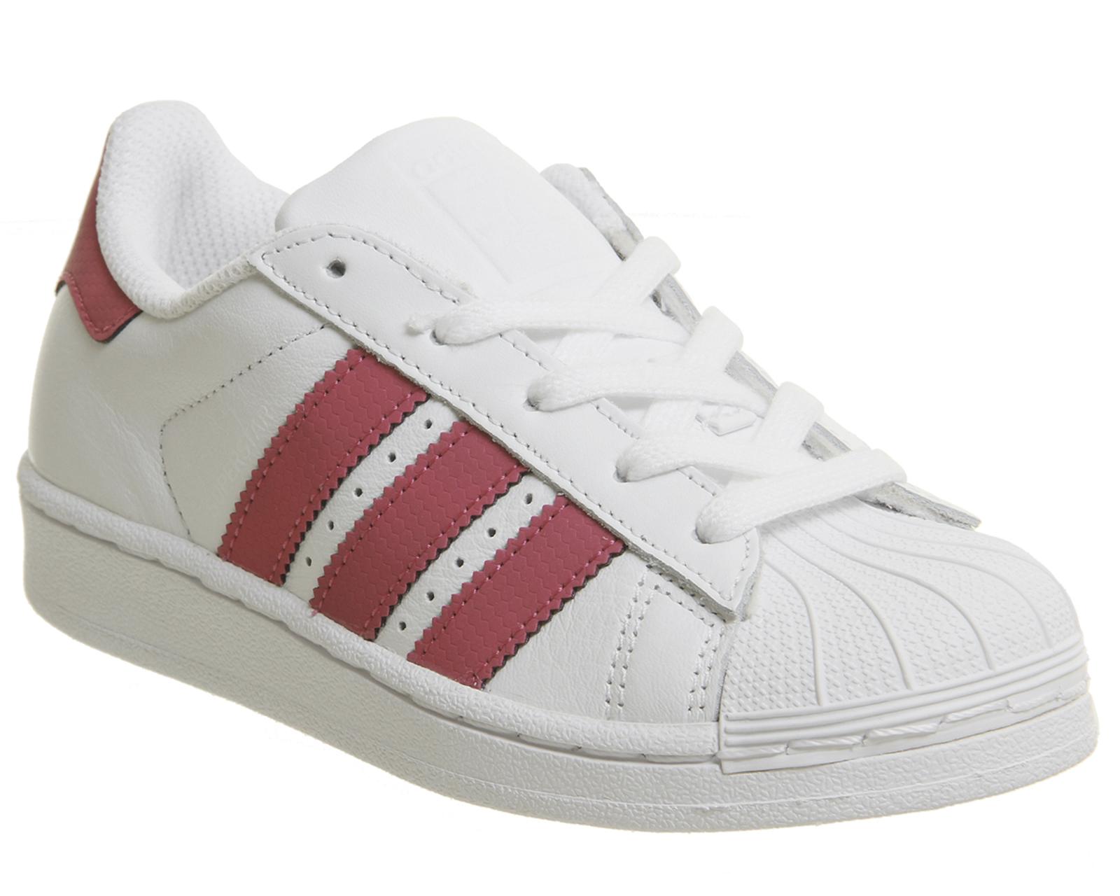sports shoes d9c5c a4663 ... low cost sentinel bambini adidas superstar bambini 10 2 bianco rosa  kids ffc0c c2dfa