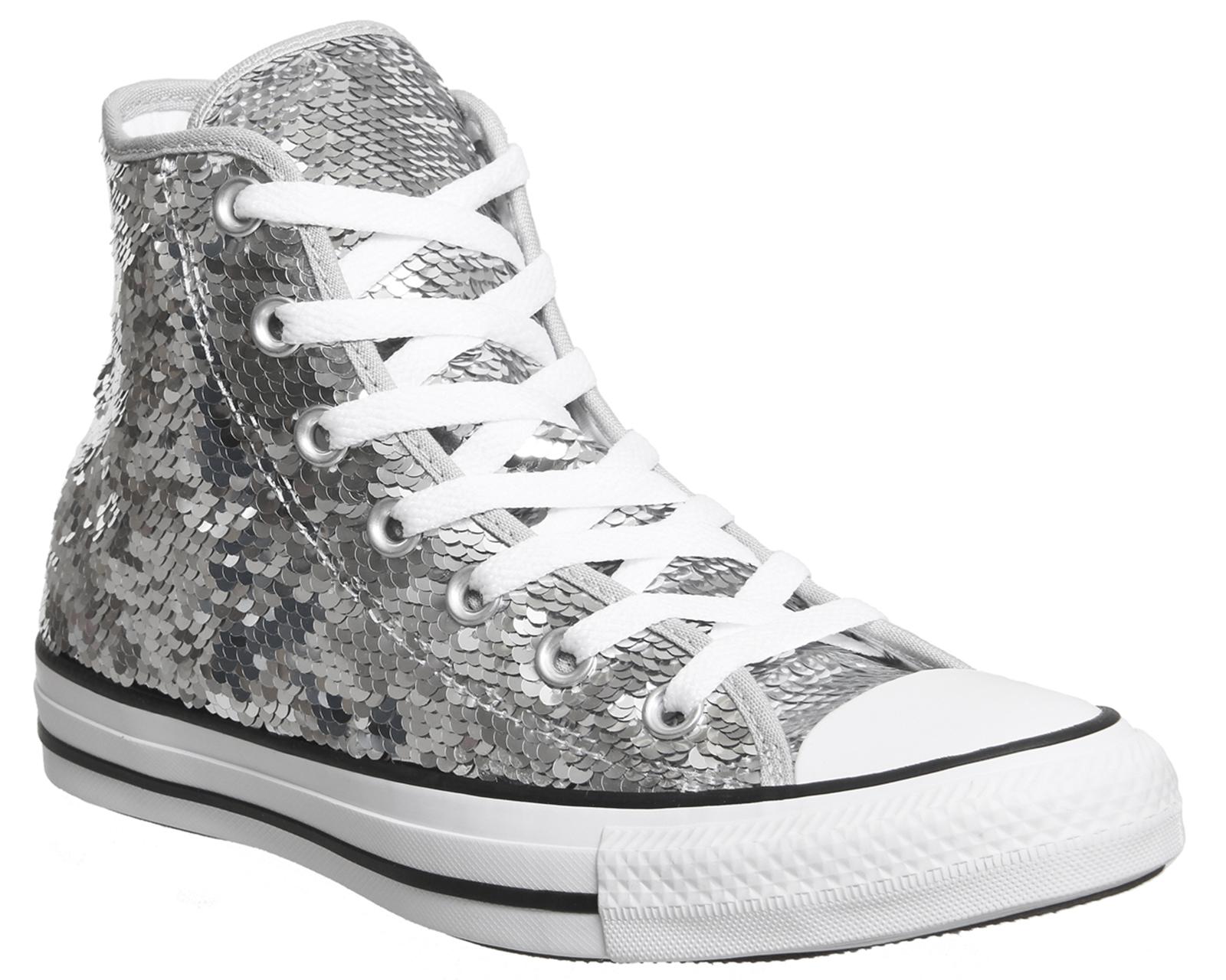 d97173777dee Hi Hi Sequin Star Trainers Converse All Ebay Ebay Shoes Womens Silver  qwtzTHPzI