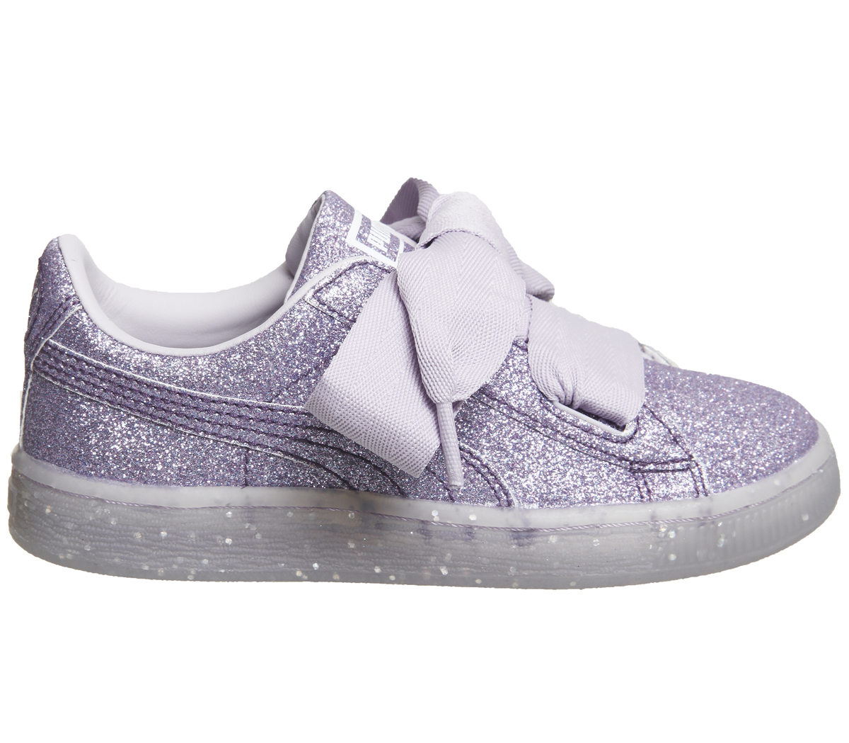 fc2245f61077 Kids Puma Basket Heart Ps Thistle Glitter Exclusive Kids