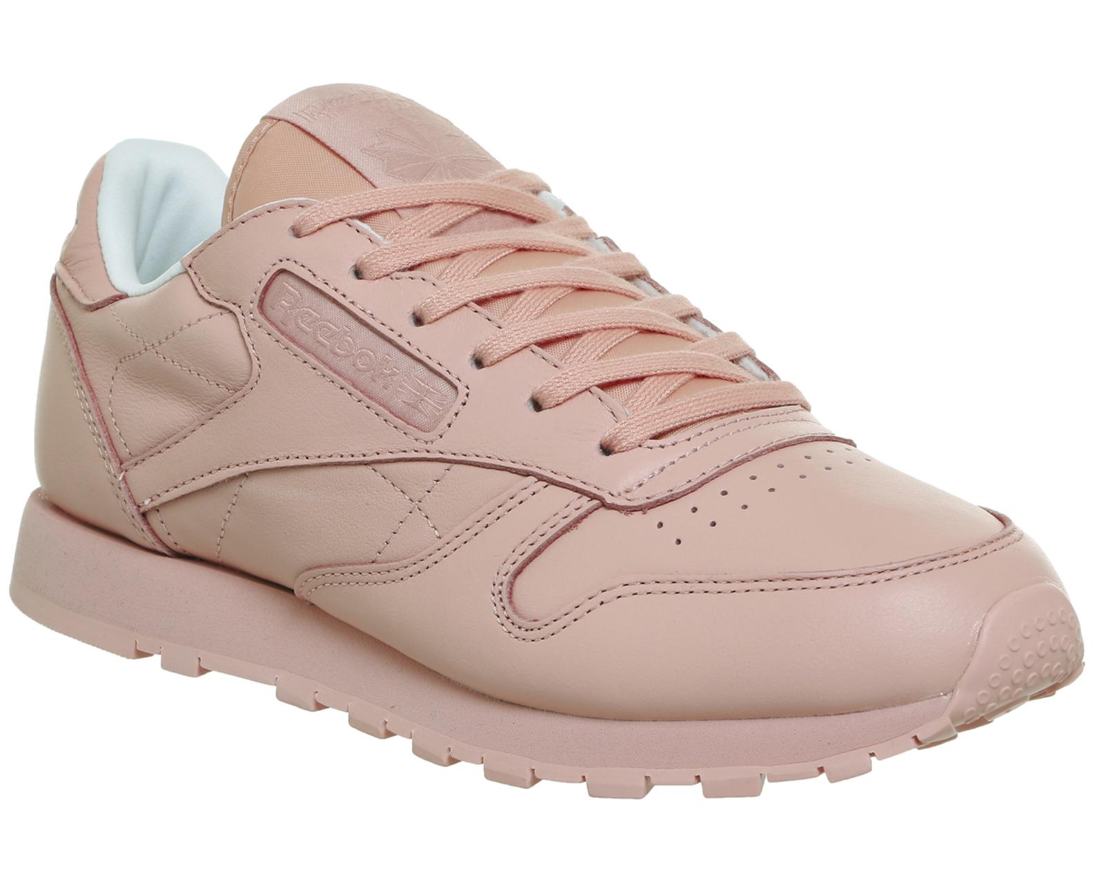 Da Donna Reebok CL Leather Scarpe da ginnastica rosa patina