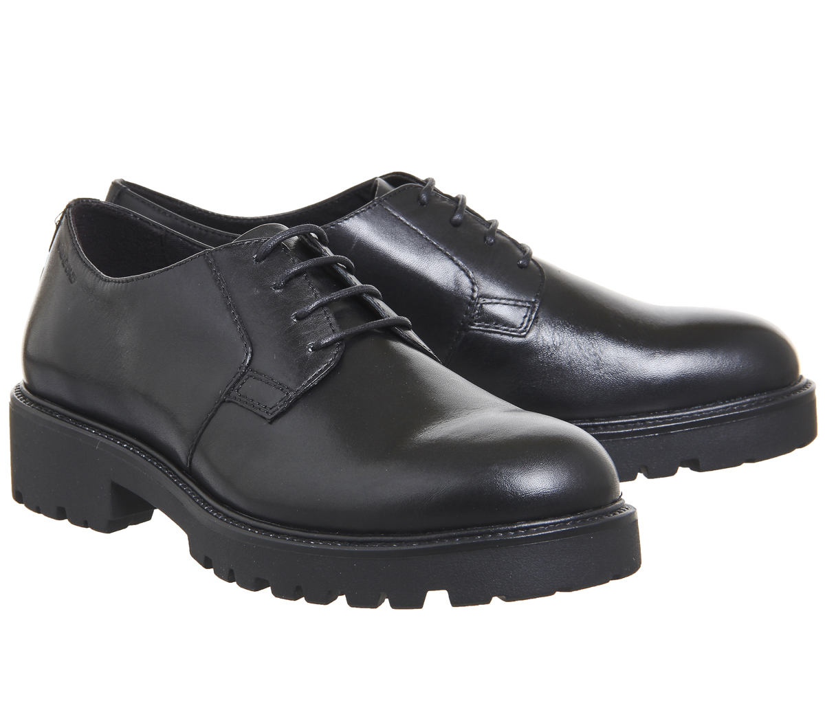Womens Womens Womens Vagabond Kenova Lace shoes Black Leather Flats 38b4fe