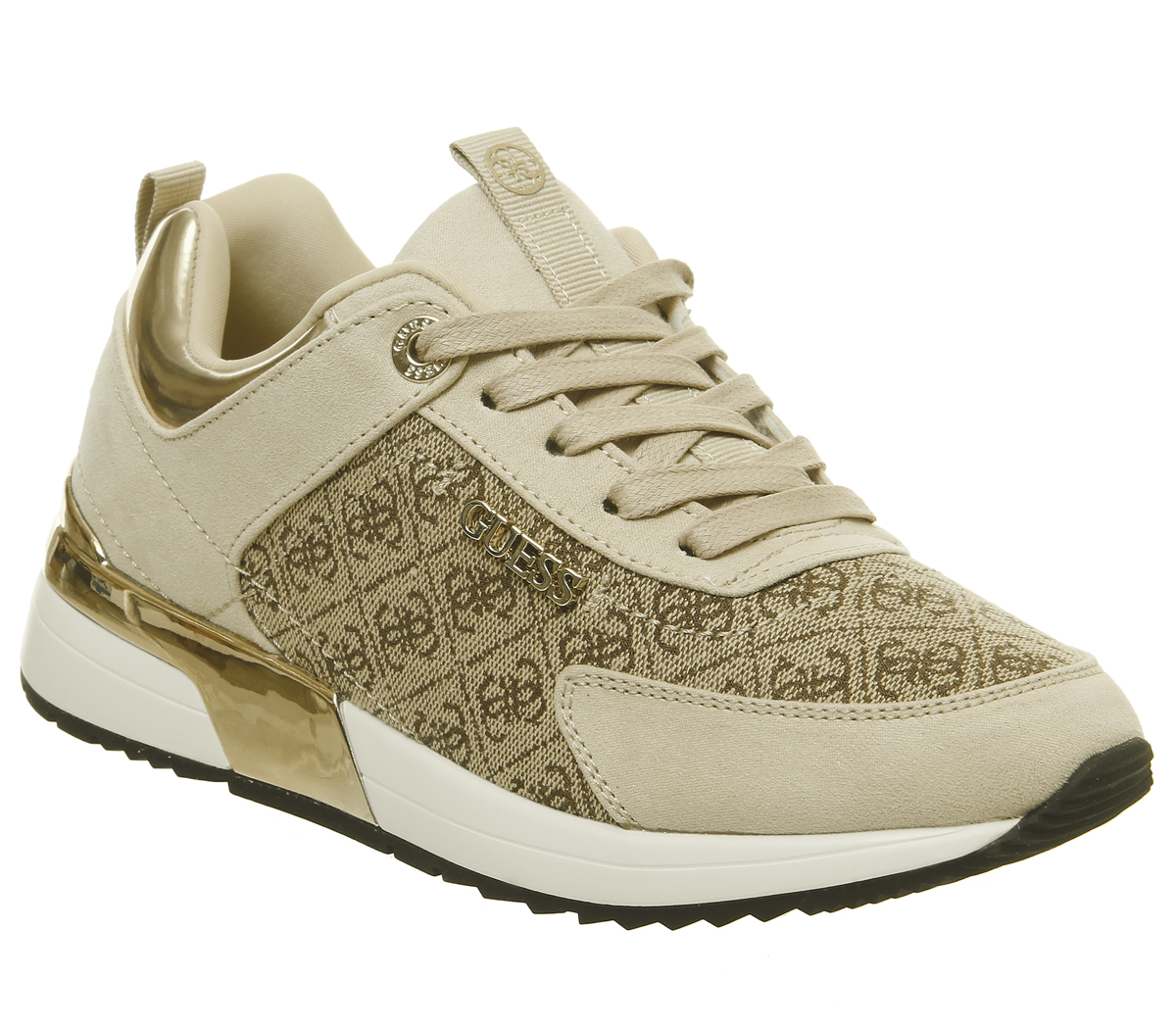 5be2b4b6397 Womens-Guess-Marlyn-Sneakers-Beige-Logo-Flats thumbnail 9