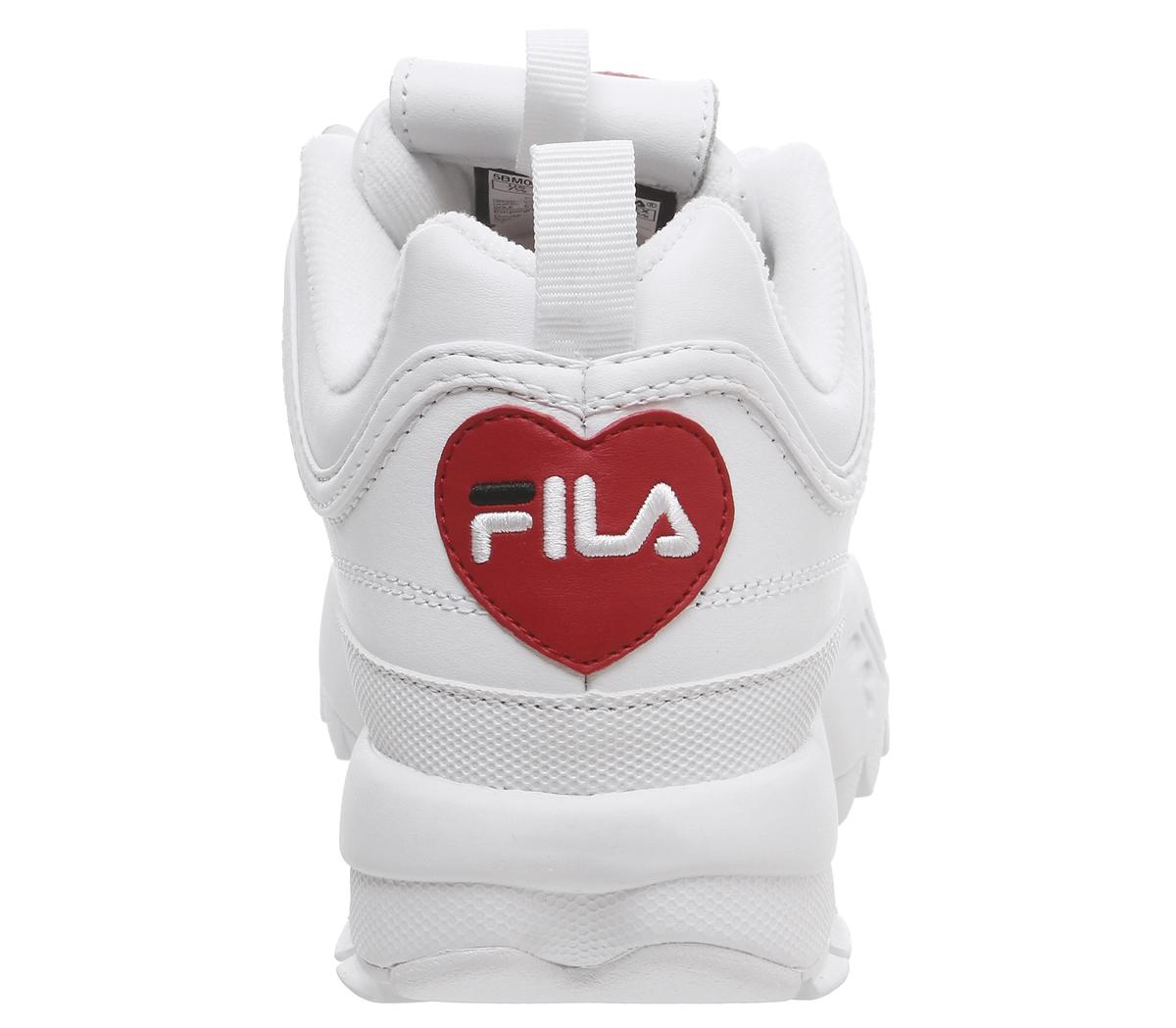 Da-Donna-FILA-Disruptor-II-Scarpe-da-ginnastica-CUORE-BIANCO-Scarpe-da-ginnastica-esclusive miniatura 17