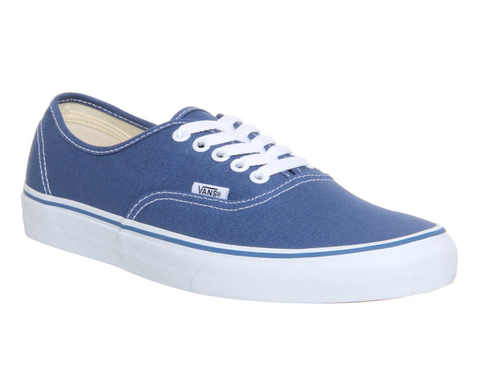 bcb714e7a Sentinel Mens Vans Authentic Navy Trainers Shoes