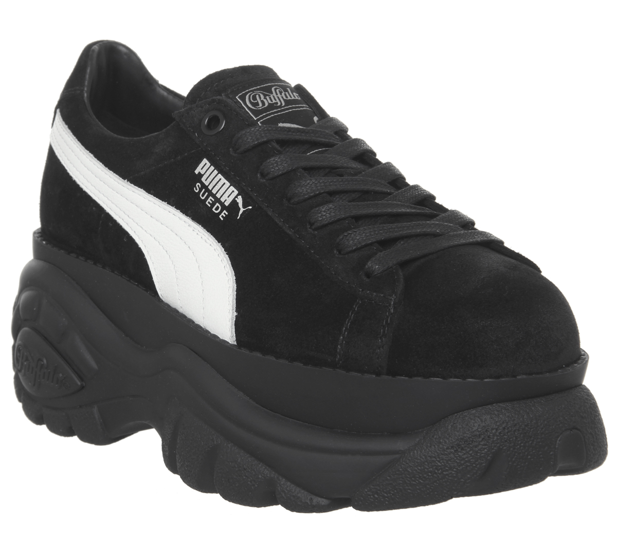 cheap for discount a3b04 a47c4 SENTINELLE Womens Puma Suede Buffalo formateurs Puma noir chaussures  formateurs