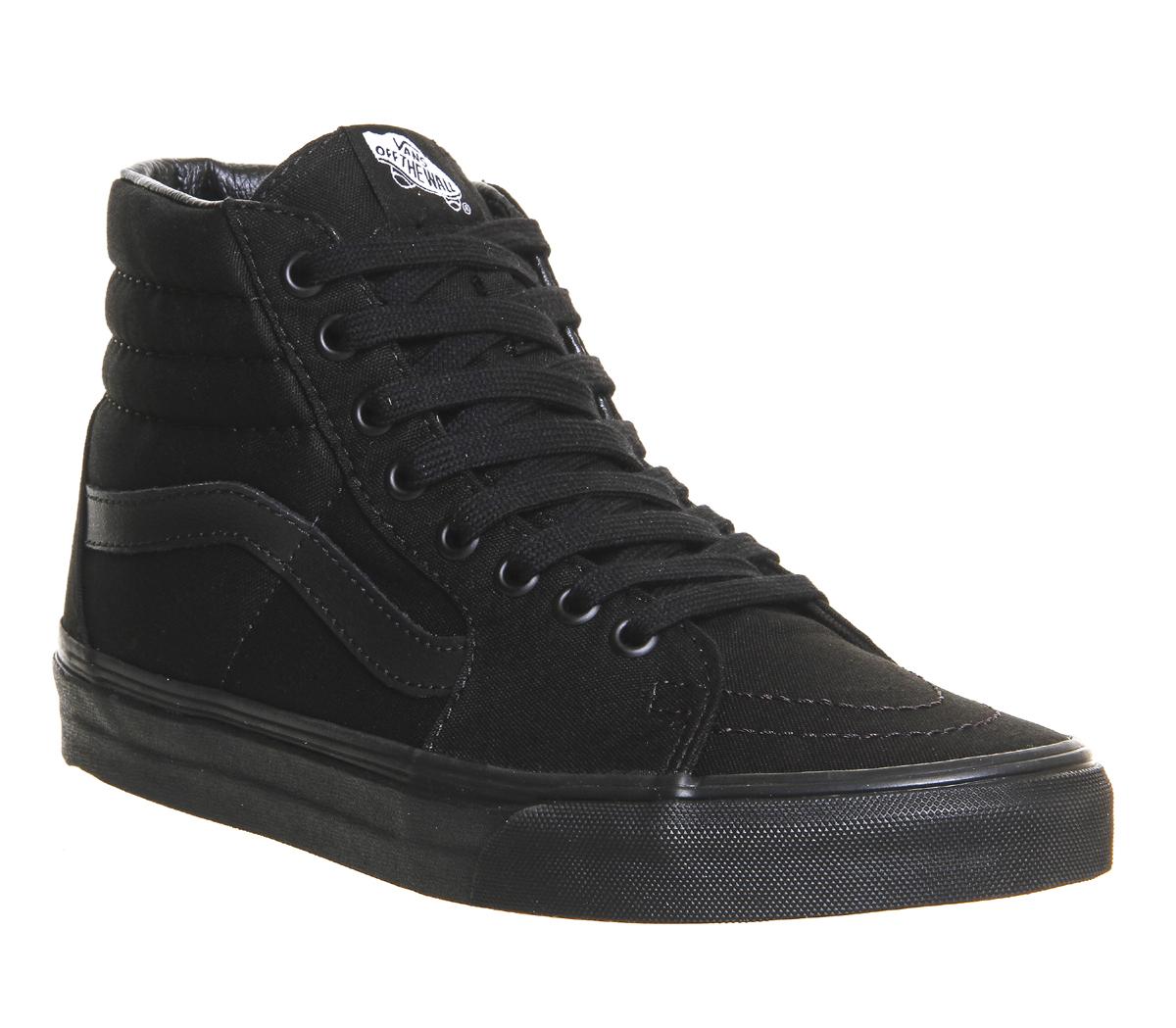 scarpe vans nero donna alte
