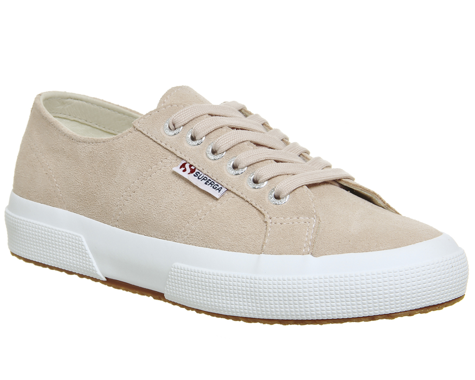 3b559c487d929 Sentinel Womens Superga 2750 Trainers Pink Skin Suede Trainers Shoes