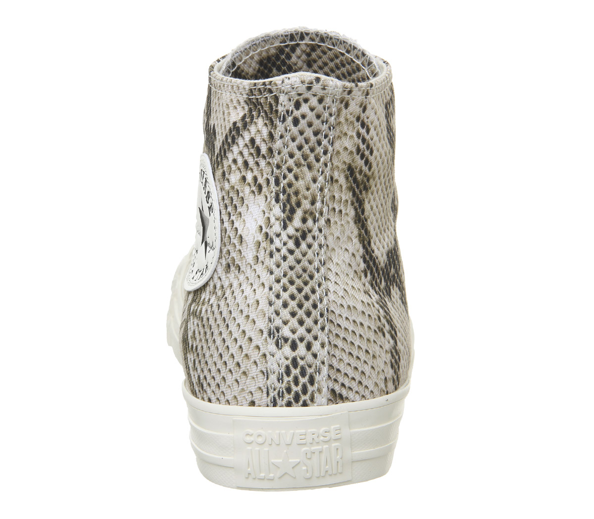 Womens-Converse-Converse-All-Star-Hi-Trainers-Egret-Black-Snake-Trainers-Shoes thumbnail 3