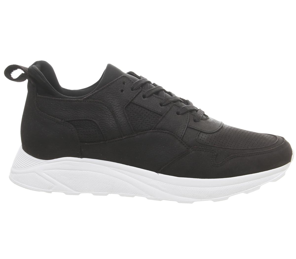 Mens-Office-Lacrosse-Trainers-Black-Nubuck-Casual-Shoes thumbnail 4