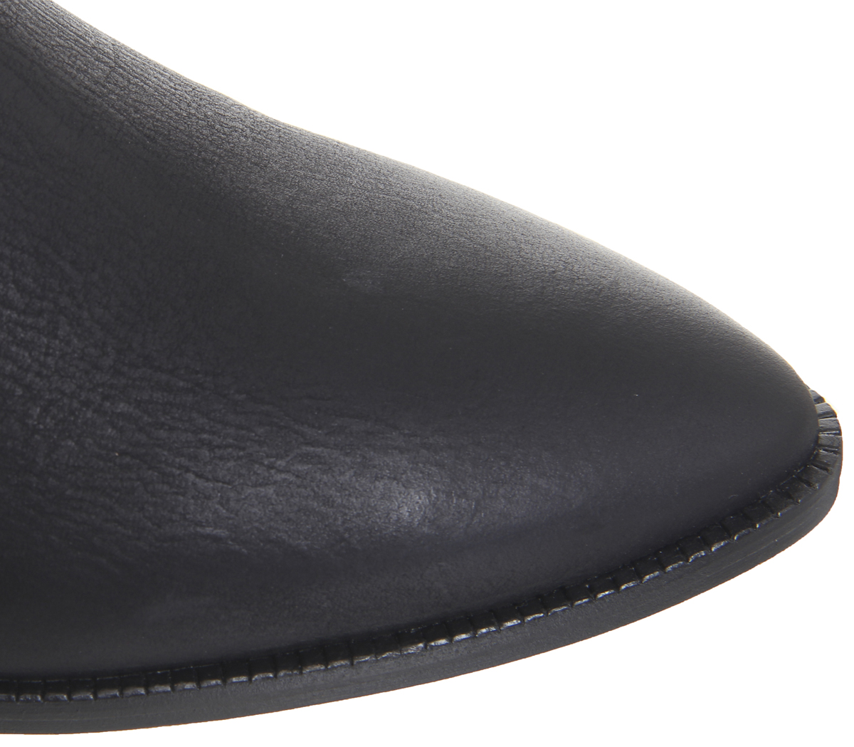 591f10a3398 Details about Womens Office Addition Low Cut Western Boots Black Leather  Boots