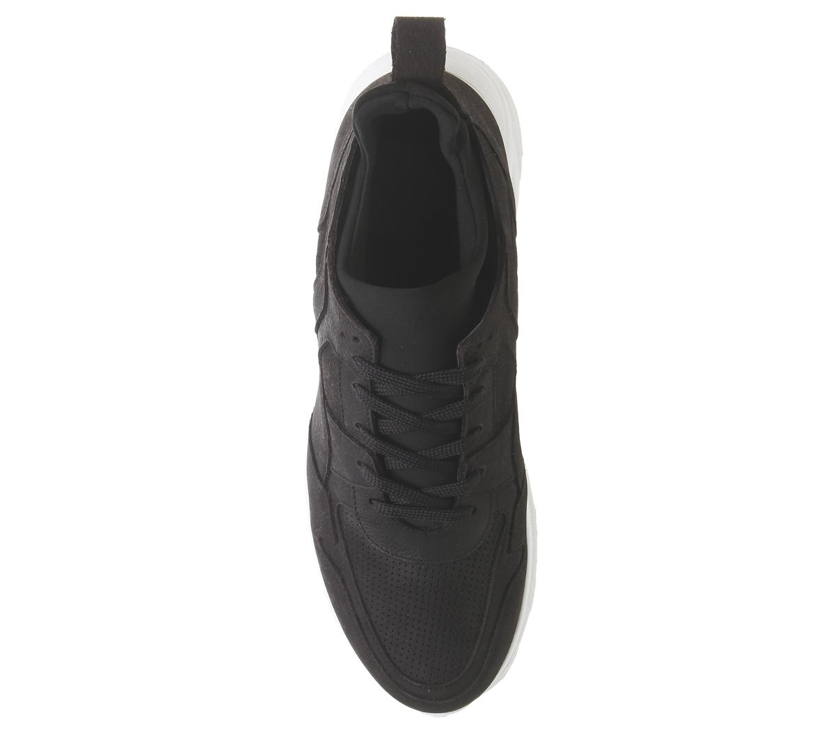 Mens-Office-Lacrosse-Trainers-Black-Nubuck-Casual-Shoes thumbnail 10