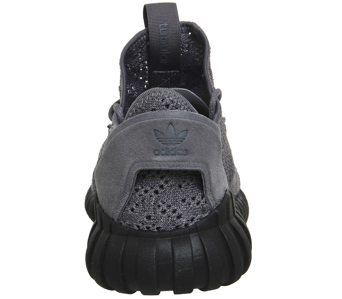 4bc12fc77aa5 Details about Womens Adidas Tubular Doom Sock Trainers FOUR GREY BLACK Trainers  Shoes