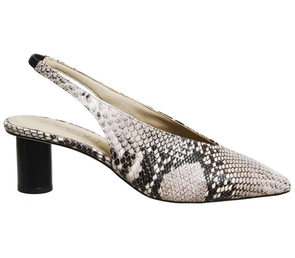 Damenschuhe SNAKE Office Mischief Pointed Heels NATURAL SNAKE Damenschuhe BLACK SPRAY HEEL Heels c7adc6
