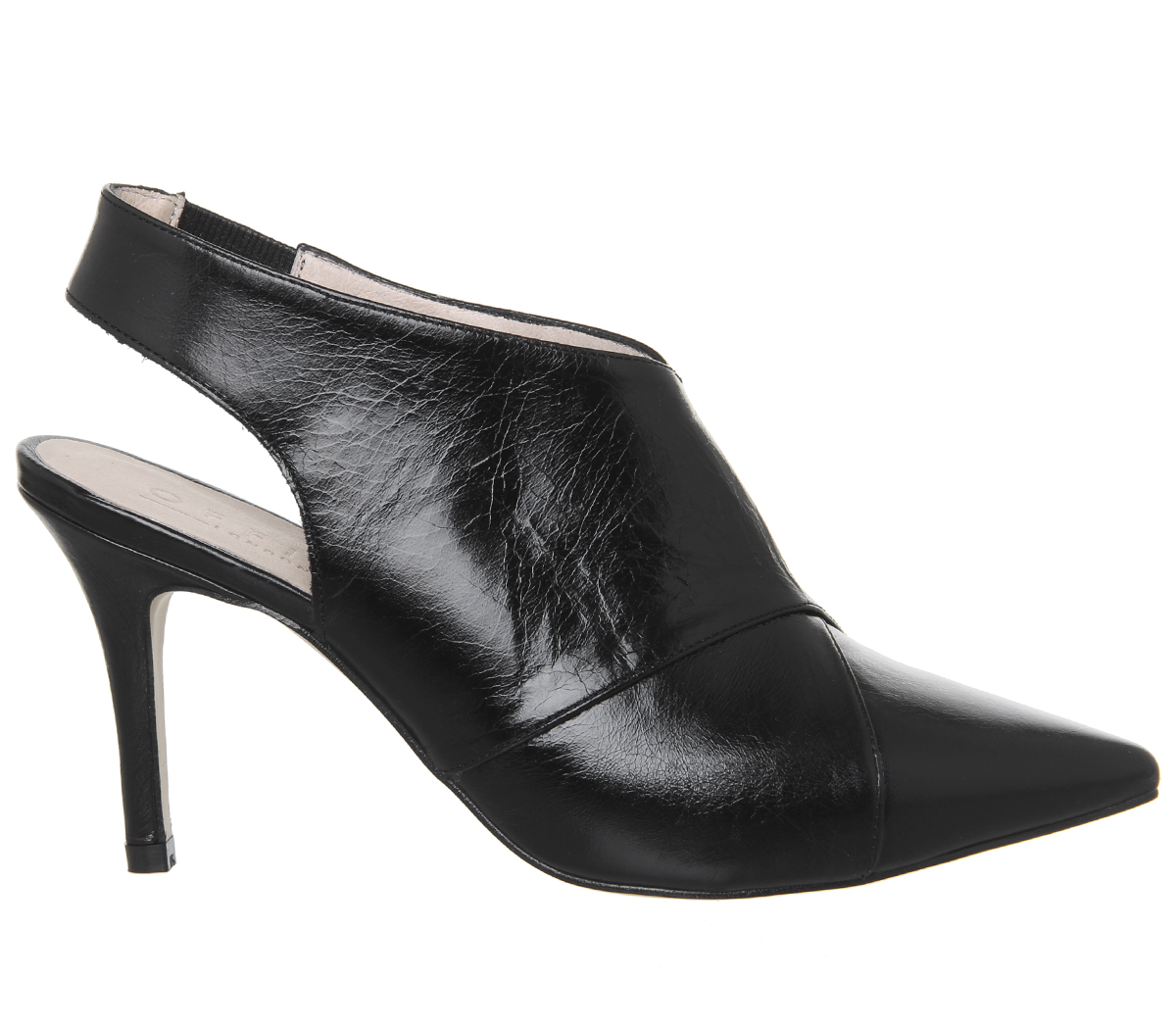 Damenschuhe Office GROUCO Moon Cross Strap SchuheStiefel BLACK GROUCO Office LEATHER Heels 845e92