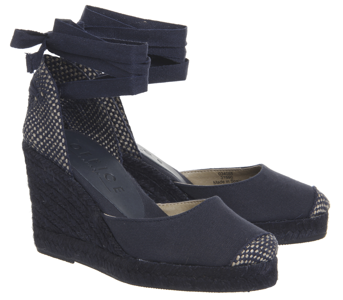 Damenschuhe Office Wedges Marmalade Espadrille Wedges Office NAVY CANVAS DRENCH Heels 1a5dc7
