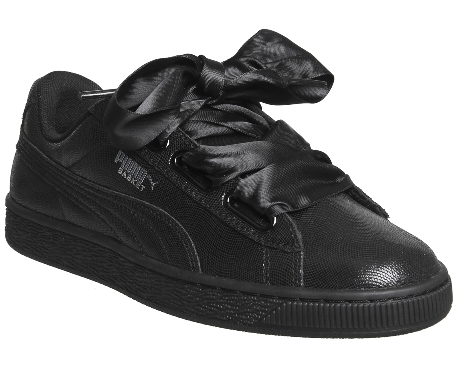 b7c3cc9a2207 Sentinel Womens Puma Basket Heart Trainers Puma Black Shine Trainers Shoes