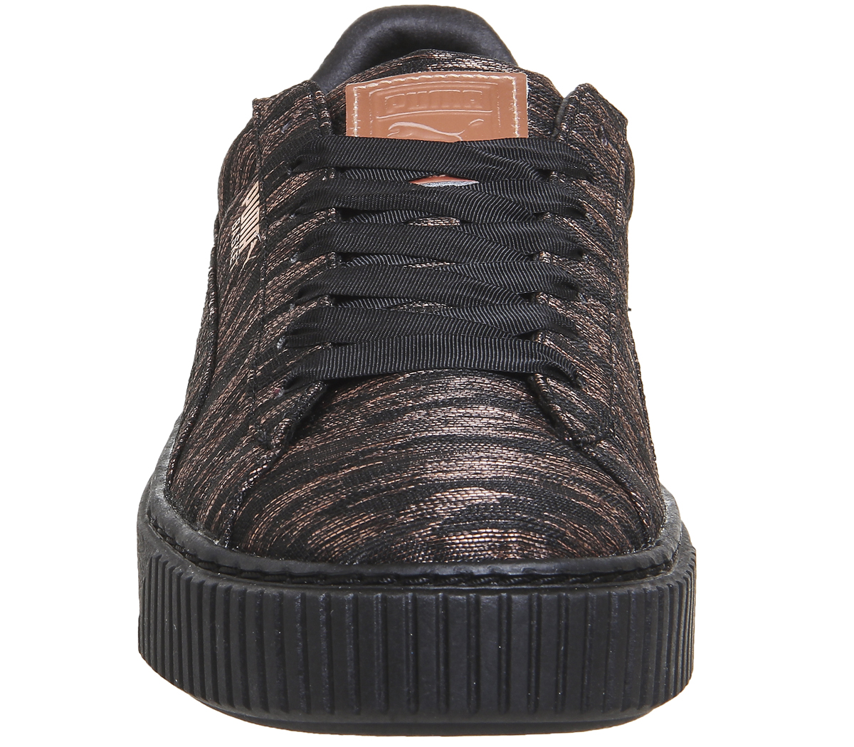 24b8b1a6b1bd Sentinel Womens Puma Basket Platform BLACK MONO VELVET ROPE Trainers Shoes