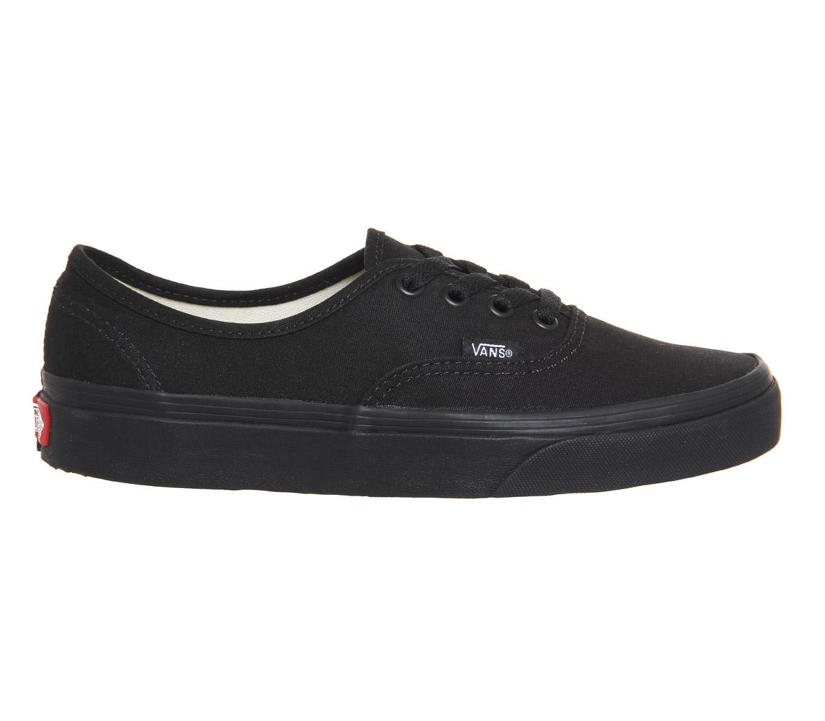 1d55b5274 Sentinel Mens Vans Authentic Black Mono Trainers Shoes