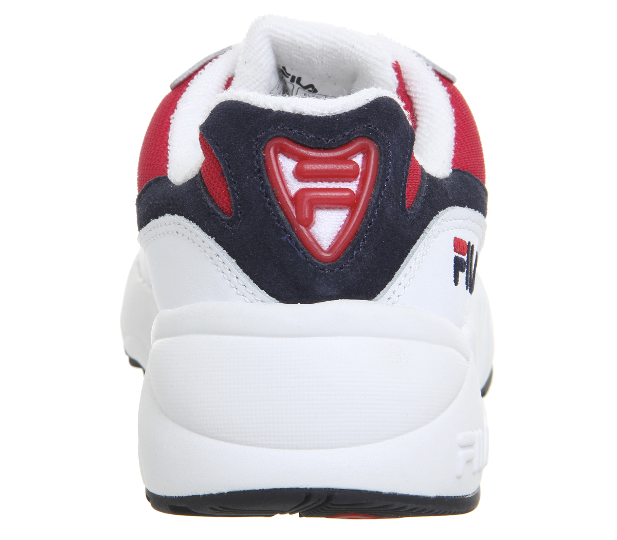 1449e7ba Details about Womens Fila Venom Trainers White Fila Navy Fila Red Trainers  Shoes