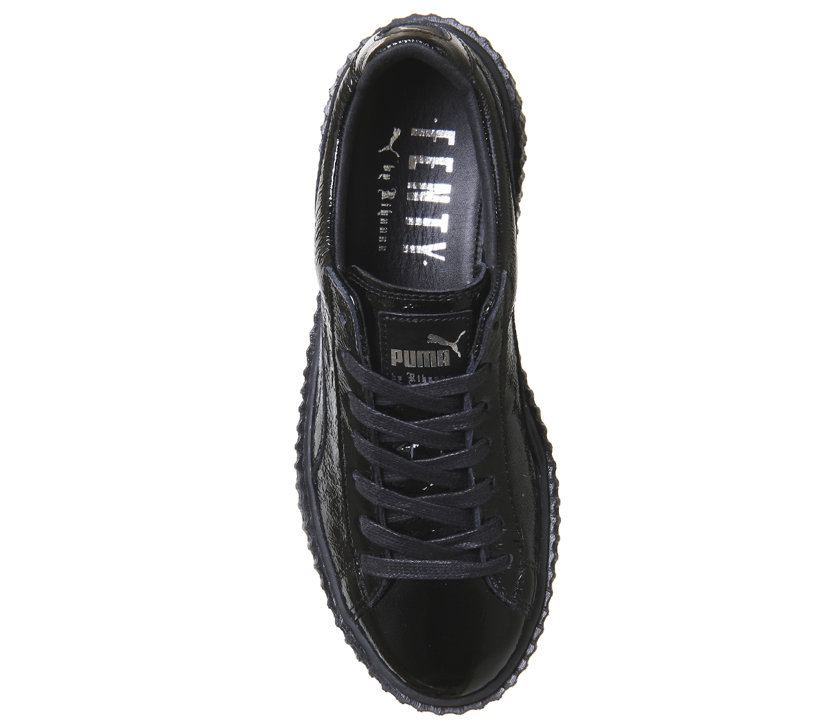 info for 21b67 309ae ... Chaussures-Femme-Puma-Basket-creepers-noir-craquele-cuir-