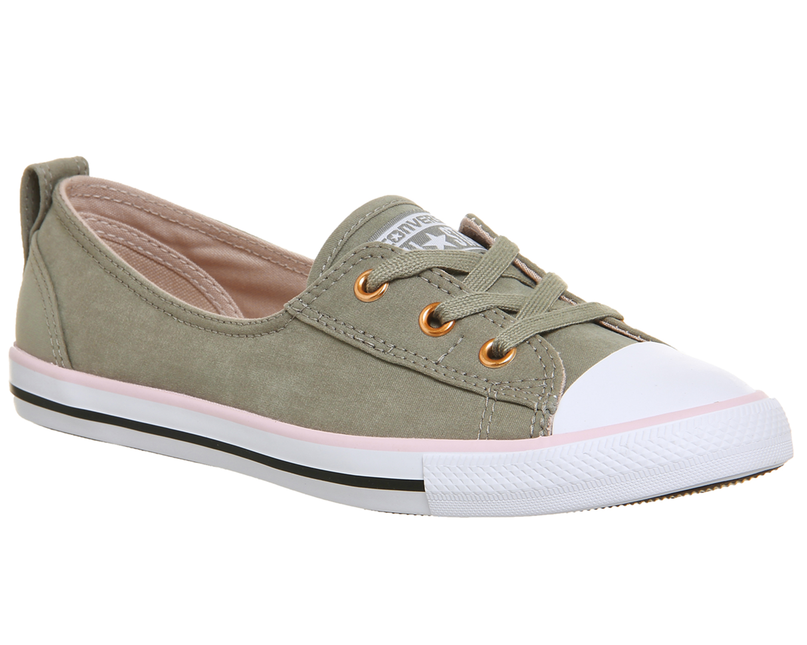 26440c2ac26d Sentinel Womens Converse Ctas Ballet Lace Trainers DARK STUCCO CHERRY  BLOSSOM EXCLUSIVE T