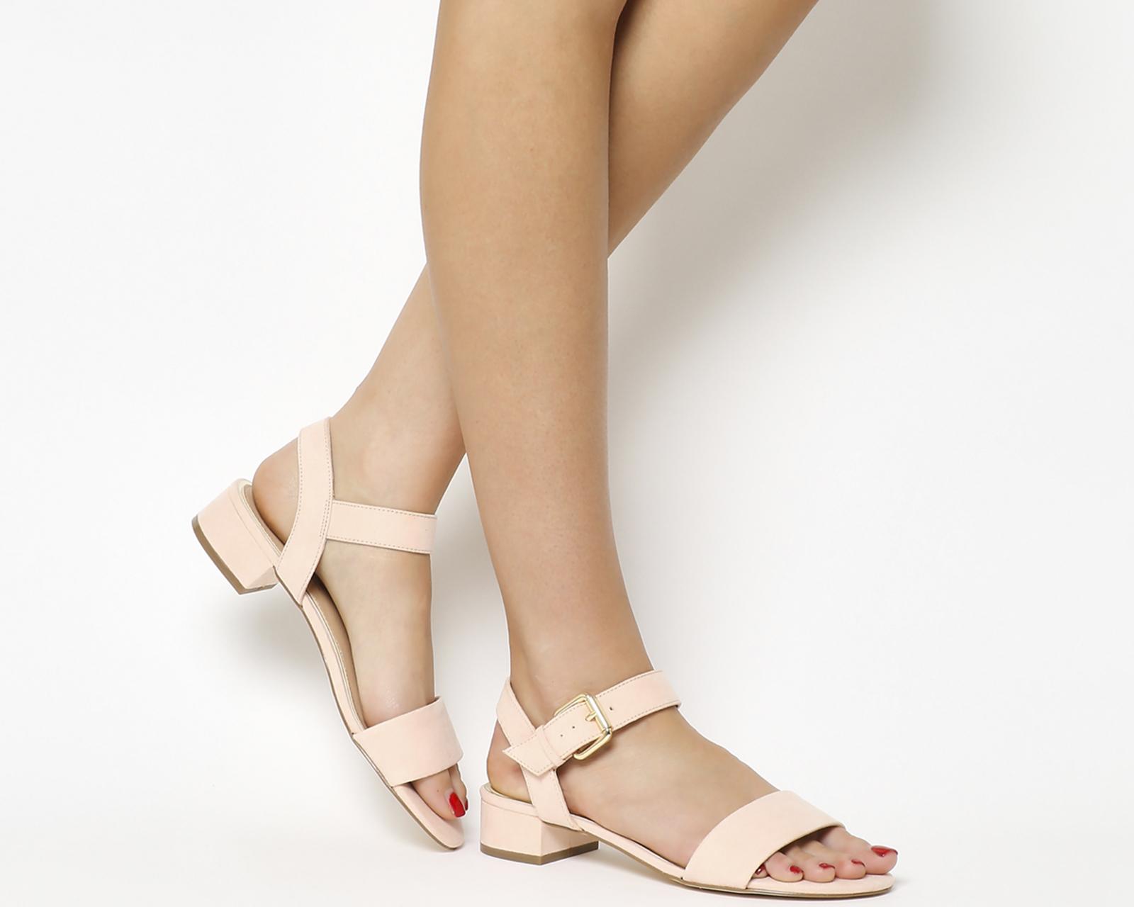 6b528538b96 Sentinel Womens Office Morgan Block Heel Sandals NUDE Heels