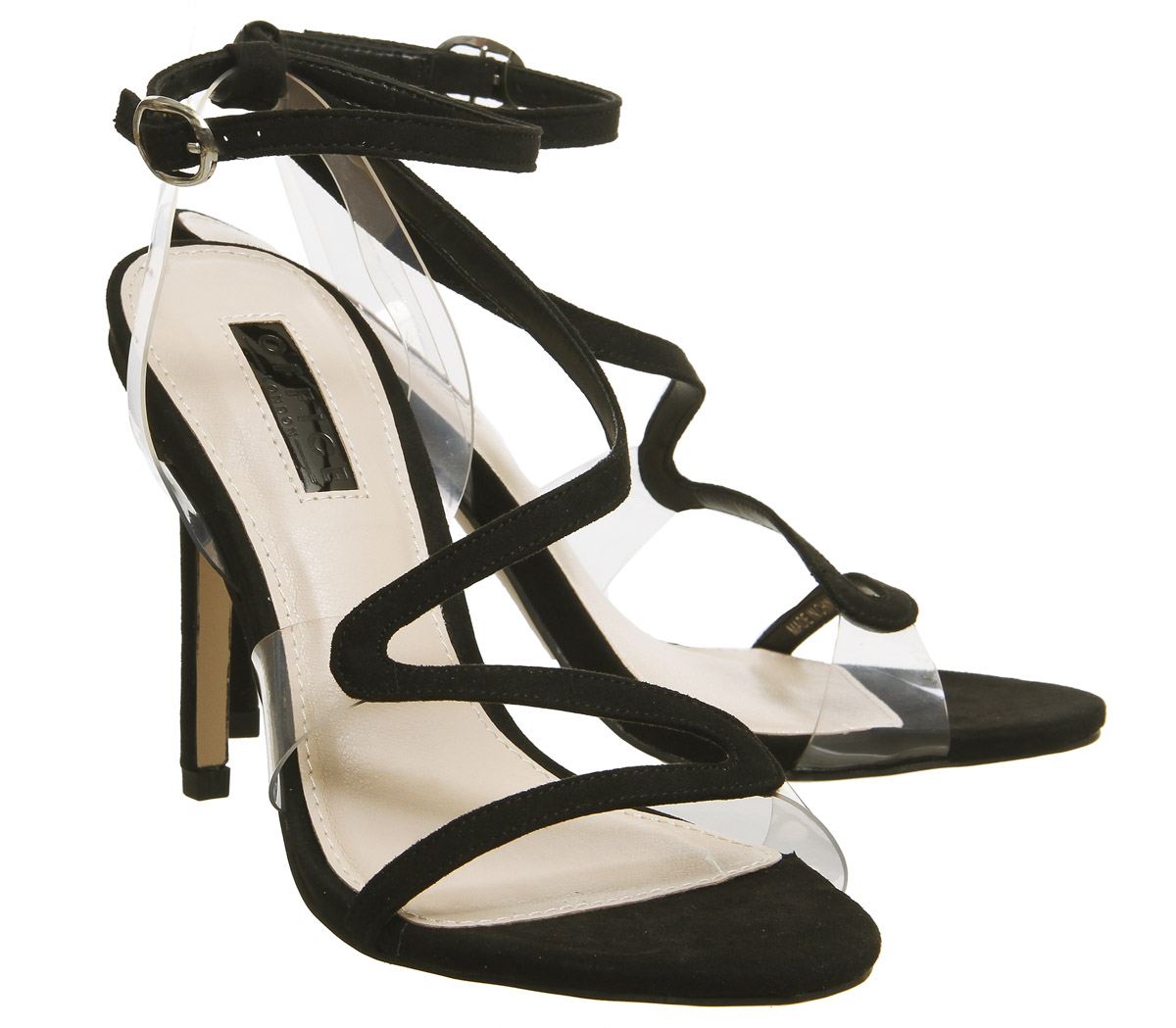 3e7fb106a30 Womens-Office-Hotel-Asymmetric-Strappy-Heels-Black-Heels thumbnail