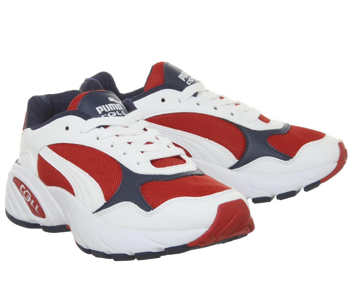 Homme-Puma-Cell-Viper-Baskets-PUMA-blanc-Risque-Eleve-Rouge-Baskets miniature 12